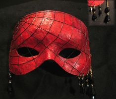 Red Web Mask by MetallicVisions