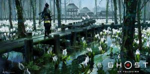 Ghost of Tsushima - White Flowers by iancjw