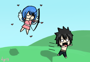 Cupid Juvia to the Rescue...or not by LyritEmbrium
