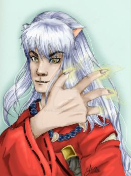 inuyasha colored by JaqD