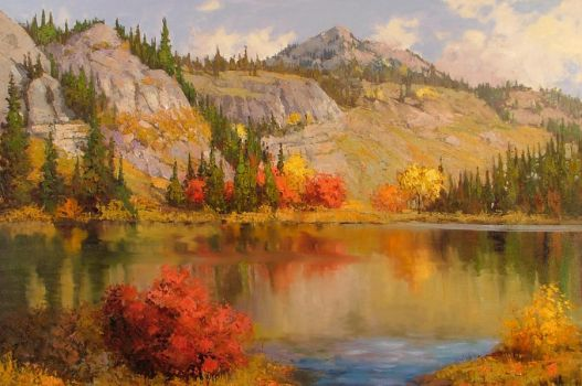 Autumn at the Lake by rooze23