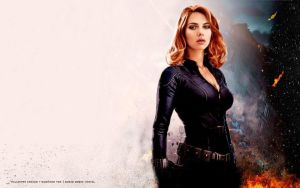 Black Widow Wallpaper by Admin-Cap
