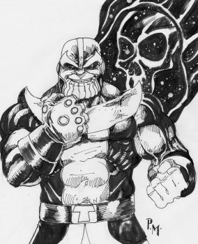 Thanos - The mad Titan by PM-Graphix