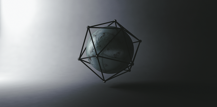 abstract Sphere Render by KhaledReese