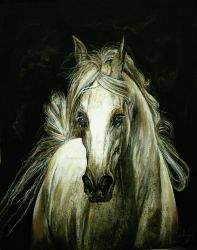 Ghost - acrylic painting by Lynne-Abley-Burton