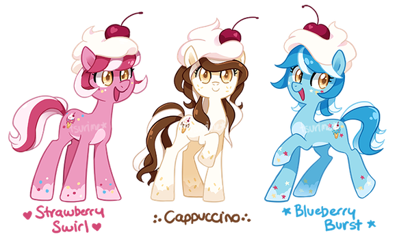 MLP Adoptable Auction ~ Ice Cream Triplets[CLOSED] by tsurime