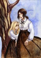 SNK Ymir and Christa by MaryIL
