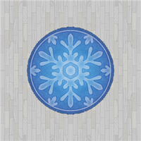 White Flooring And Snowflake Rug by Rosemoji