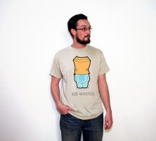 Kid Wasted for Threadless by shanahben