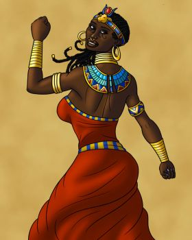 Hathor Dances by TyrannoNinja