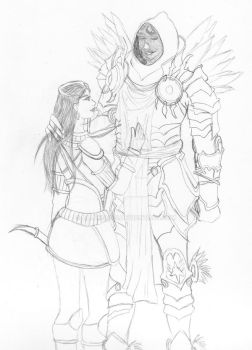 Atsanit and Tyrael by Alleria855