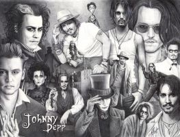 Ballpen Art - Johnny Depp by ArtisAllan