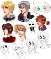 Hetalia and Pchat by EliciaElric