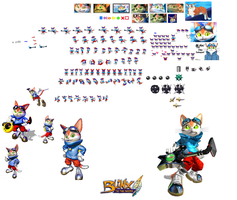 blinx the time sweeper sprite by yunkai