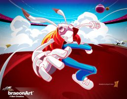King Kazma in Action by braeonArt
