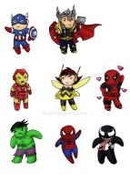 Marvel Chibis by Tamao