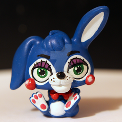 Toy Bonnie from FNAF2 inspired LPS custom by pia-chu