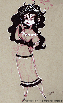 Sketch - Carmen by MarionetteDolly