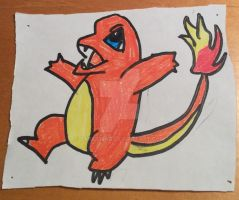 Charmander drawing by Darkswag