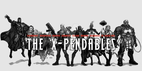 WIP the X-Pendables blkwht 02 by RCarter