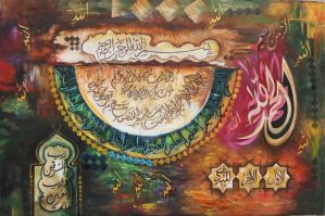 Calligraphy by chughtai1