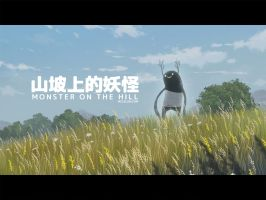 Monster on the hill by mclelun