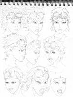 SKETCH - head design for Viki by comicsINC