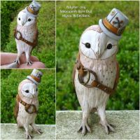 Dapper Steampunk Barn Owl by MysticReflections