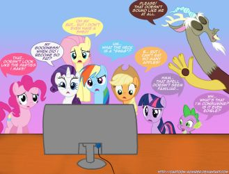 Ponies' Reactions to PONY.MOV by Cartoon-Admirer