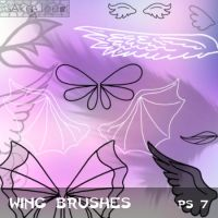 Wing Brushes by Aka-Joe