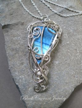 Dawn Sky - Labradorite with Sterling Silver by blackcurrantjewelry