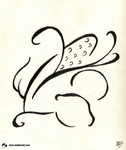 Calligraphic Corn by NoelleMBrooks