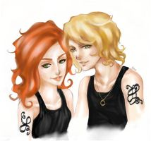 Clary and Jace by ridshirr38