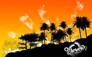 wallpaper tropical soft by Levek