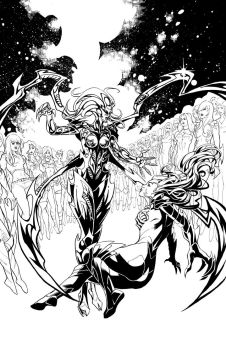 Witchblade #165 Sample Inks Page 2 by RobertDanielRyan