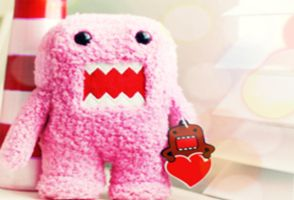 Wallpaper Domo Pink 1 by candybubblesweety