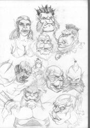 Orc Sketches by Crampside