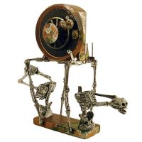 Mixed Media Altered Clock Assemblage Art (1) by TheReverendMercury