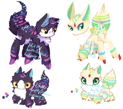 Jitterwhim Guest Adopts -closed- by HitMeWithBrokenLeave