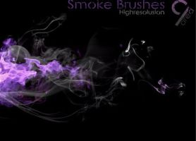 High Resolution Smoke Brushes for photoshop ,GIMP by superzstock