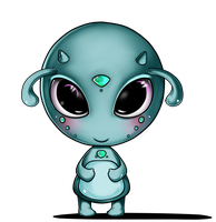 Cute Monster Front by Maan11j