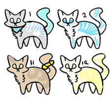 CLOSED! : Feline Adoptables 0/4 by Violeta-Adopts
