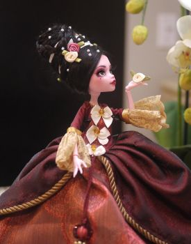 Monster High Faceup Repaint Lady Adelina by Candy-Janney