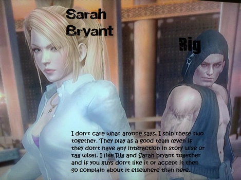 Dead Or Alive 5: Last Round (Rig x Sarah Bryant) by ThePuppetReturns