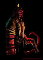 Hellboy sketch by cinemamind