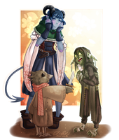 Proud moms - Critical Role by SafirasArt