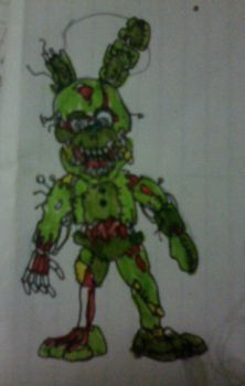 Miniature Springtrap by FreddleFrooby