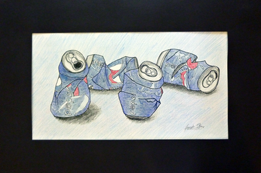 Crushed Pepsi Cans by metaknightmare1234
