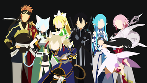 SAO Minimalist Wallpaper by Yuki-Neh