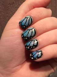 Butterfly Nails by megs2606